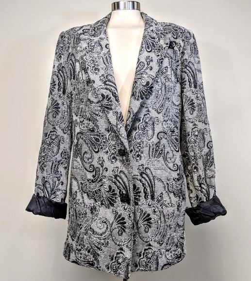 Cache Jackets & Blazers - Cache Oversized Paisley Chenille Blazer